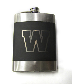 WINNIPEG BLUE BOMBERS CFL LASER ENGRAVED STAINLESS STEEL FLASK