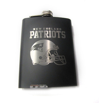 NEW ENGLAND PATRIOTS NFL LASER ENGRAVED STAINLESS STEEL FLASK