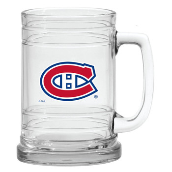 MONTREAL CANADIENS NHL 15OZ  MARITIME STYLE CLEAR GLASS MUG
