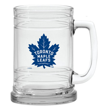 TORONTO MAPLE LEAFS NHL 15OZ  MARITIME STYLE CLEAR GLASS MUG