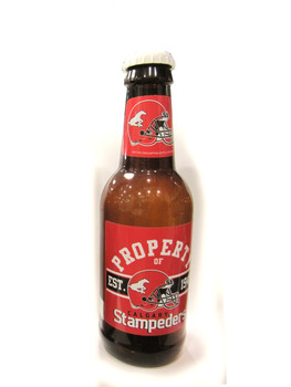CALGARY STAMPEDERS - CFL FOOTBALL - BOTTLE COIN BANK