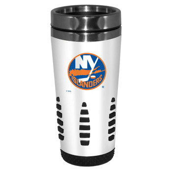 NEW YORK ISLANDERS - NHL HOCKEY - HUNTSVILLE METAL TRAVEL MUG