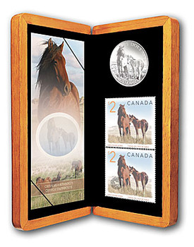 2006 SABLE ISLAND HORSE & FOAL $5 COIN & STAMP SET