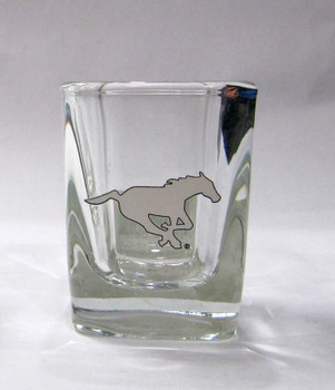CALGARY STAMPEDERS - CFL FOOTBALL - SQUARE SHOT GLASS
