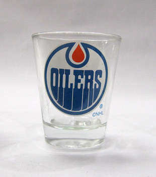 EDMONTON OILERS - NHL HOCKEY - SHOT GLASS