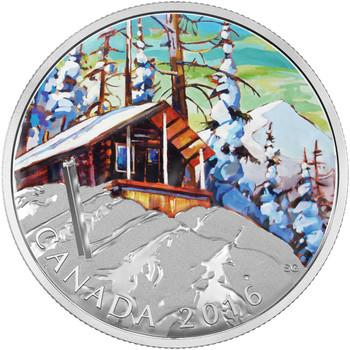 2016 $20 FINE SILVER COIN CANADIAN LANDSCAPE SERIES - SKI CHALET