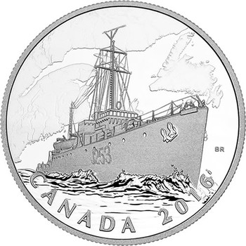 2016 $20 FINE SILVER COIN - THE CANADIAN HOME FRONT PATROL AGAINST U-BOATS