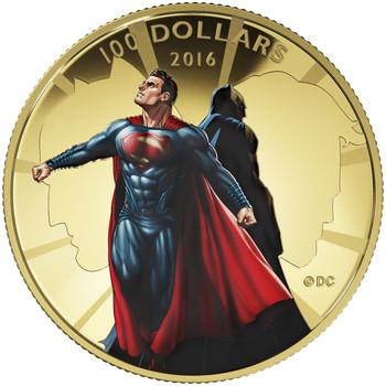 2016 $100 14-KARAT GOLD COIN BATMAN V SUPERMAN: DAWN OF JUSTICE™