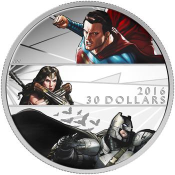 2016 $30 FINE SILVER COIN BATMAN V SUPERMAN: DAWN OF JUSTICE™
