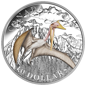 2016 $10 FINE SILVER COIN DAY OF THE DINOSAURS: TERROR OF THE SKY