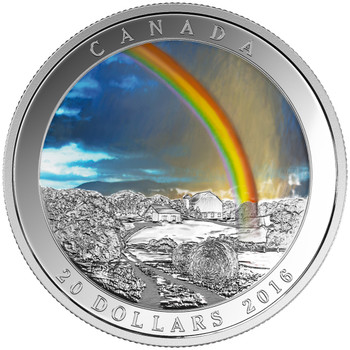 2016 $20 FINE SILVER COIN WEATHER PHENOMENON – RADIANT RAINBOW