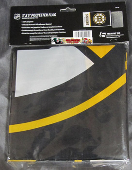 BOSTON BRUINS POLYESTER FLAG  - 3 X 5 FEET - INDOOR/OUTDOOR - BRAND NEW