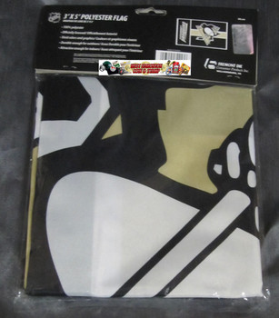 PITTSBURGH PENGUINS POLYESTER FLAG  - 3 X 5 FEET - INDOOR/OUTDOOR - BRAND NEW