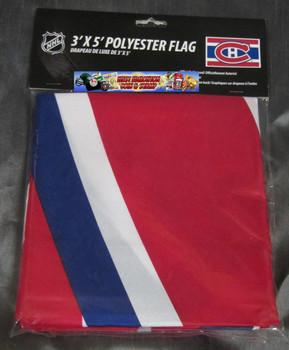 MONTREAL CANADIENS POLYESTER FLAG  - 3 X 5 FEET - INDOOR/OUTDOOR - BRAND NEW