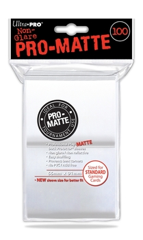 DECK PROTECTOR - STANDARD - 100 SLEEVES - PRO MATTE WHITE