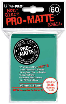 DECK PROTECTOR - SMALL - 60 SLEEVES - PRO MATTE AQUA