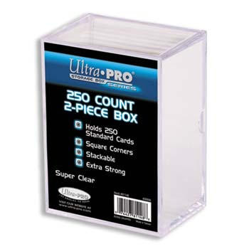 TWO-PIECE ACRYLIC STORAGE BOX - 250 CARDS