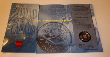 2000 25 CENTS PRIDE COLOURED (2ND COIN IN SERIES)