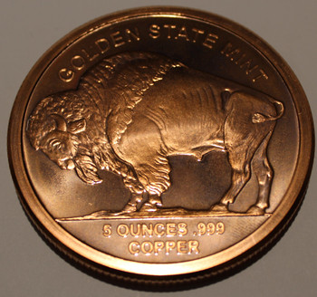BUFFALO 5OZ. COPPER ROUND