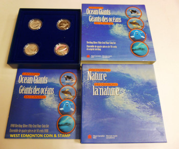 1998 WHALES PROOF 4-COIN 50-CENT
