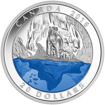 2016 $20 FINE SILVER COIN - ICONIC CANADA: THE POLAR BEAR