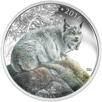 2016 $20 FINE SILVER COIN THE COMMANDING CANADIAN LYNX