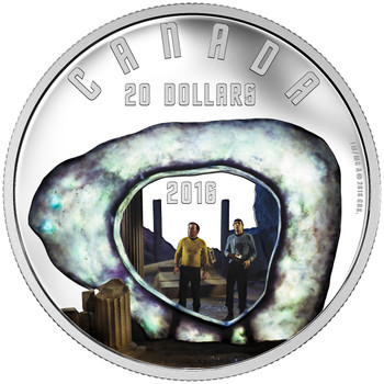 2016 $20 FINE SILVER COIN STAR TREK™: THE CITY ON THE EDGE OF FOREVER
