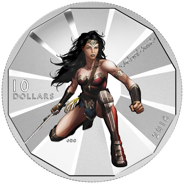 2016 $10 FINE SILVER COIN BATMAN V SUPERMAN: DAWN OF JUSTICE™ - WONDER WOMAN™