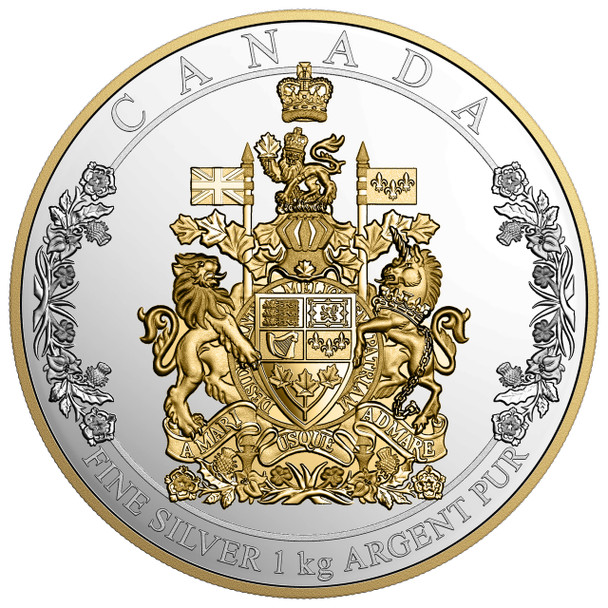 2016 $250 FINE SILVER COIN - THE ARMS OF CANADA