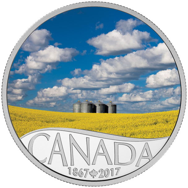 2017 $10 FINE SILVER COIN CELEBRATING CANADA'S 150TH: CANOLA FIELD
