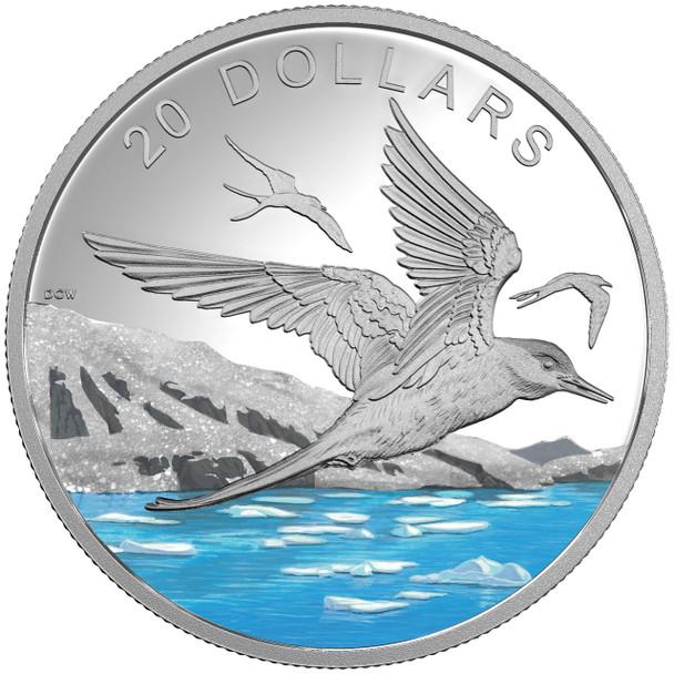 2017 $20 FINE SILVER COIN GLISTENING NORTH: THE ARCTIC TERN