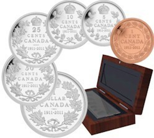 2011 SPECIAL EDITION PROOF SET 100TH ANNIVERSARY STRIKING CANADA 1911 SILVER DOLLAR