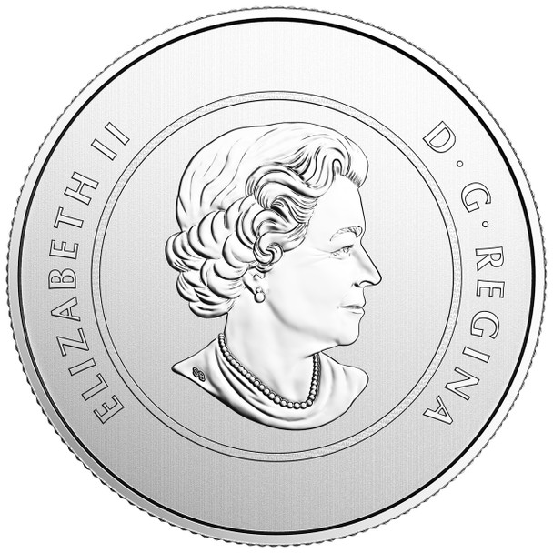 2017 $5 FINE SILVER COIN PROUDLY CANADIAN (COLOURED & GLOW-IN-THE-DARK)