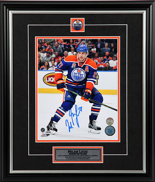 huge discount 6609f cdc55 Milan Lucic Edmonton Oilers - Eye On The Play - Signed 8x10 Photo