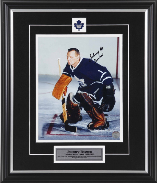 Johnny Bower Toronto Maple Leafs Signed 8x10