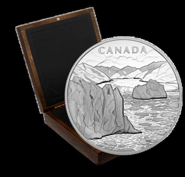 2013 1 KILO FINE SILVER COIN - CANADA'S ARCTIC LANDSCAPE - MINTAGE: 750