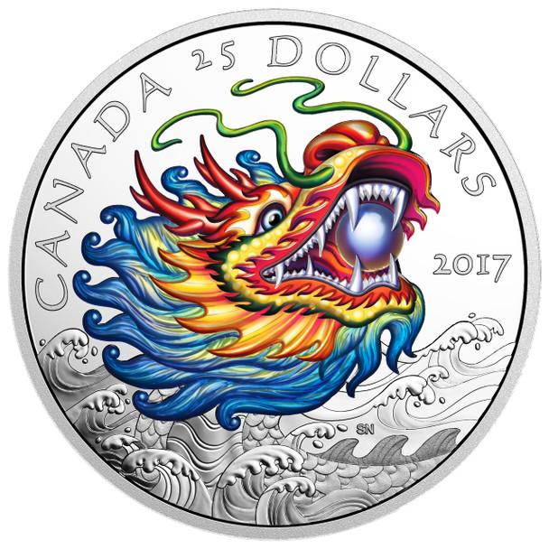 2017 $25 FINE SILVER COIN DRAGON