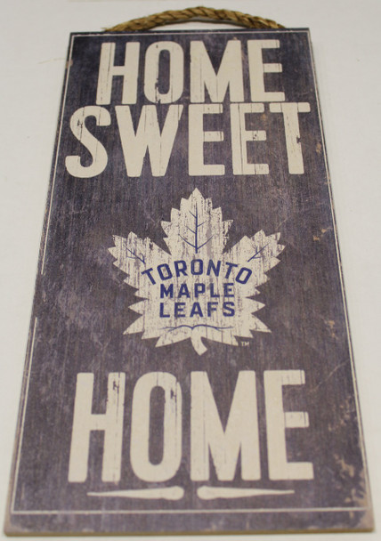 """TORONTO MAPLE LEAFS OFFICIAL NHL HOME SWEET HOME 6 X 12"""" WOODEN SIGN"""