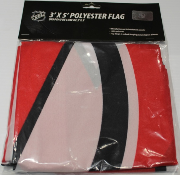 NEW JERSEY DEVILS POLYESTER FLAG  - 3 X 5 FEET - INDOOR/OUTDOOR - BRAND NEW
