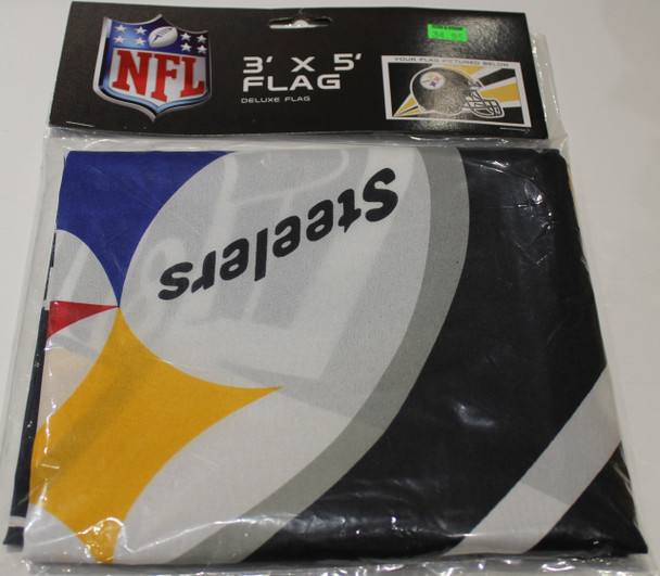 PITTSBURGH STEELERS - POLYESTER FLAG - 3 X 5 FEET - INDOOR/OUTDOOR - BRAND NEW