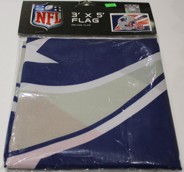 NEW ENGLAND PATRIOTS - POLYESTER FLAG - 3 X 5 FEET - INDOOR/OUTDOOR - BRAND NEW