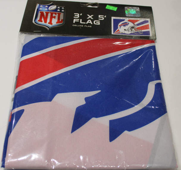 BUFFALO BILLS - POLYESTER FLAG - 3 X 5 FEET - INDOOR/OUTDOOR - BRAND NEW