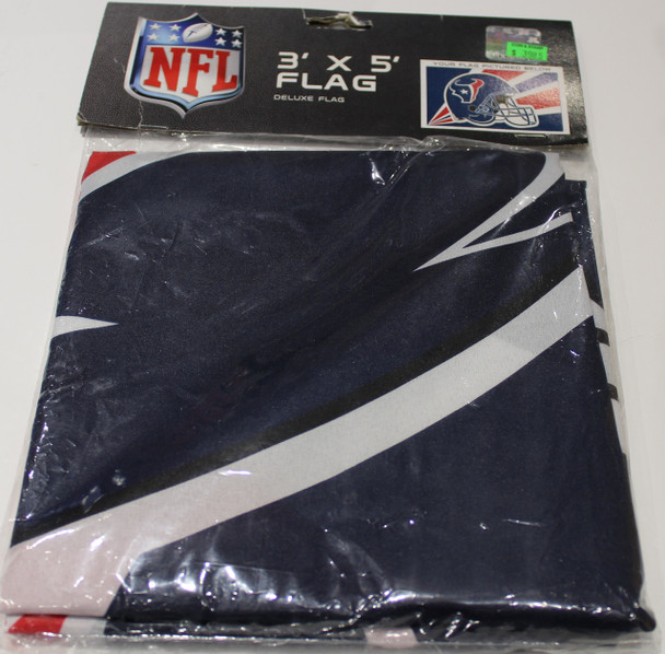 HOUSTON TEXANS - POLYESTER FLAG - 3 X 5 FEET - INDOOR/OUTDOOR - BRAND NEW