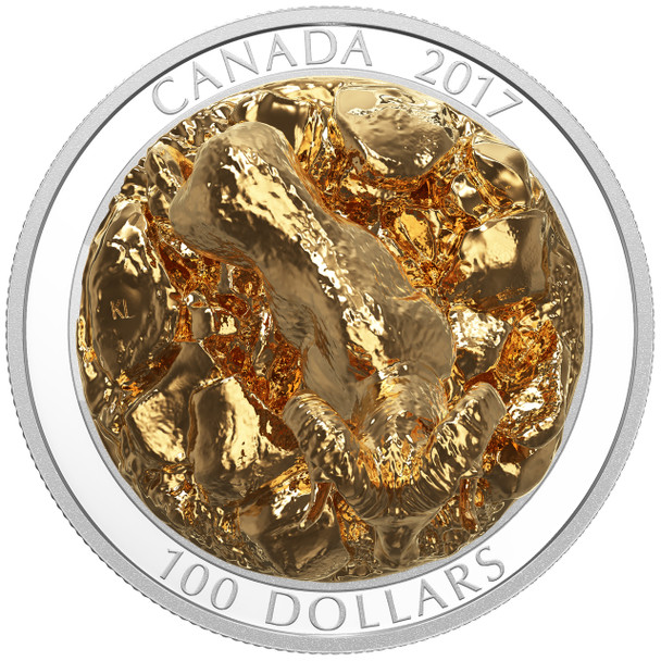 2017 $100 FINE SILVER COIN SCULPTURE OF MAJESTIC CANADIAN ANIMALS: BIGHORN SHEEP