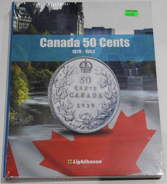 VISTA COIN BOOK CANADA 50 CENTS  - VOL 1 - 1870-1952