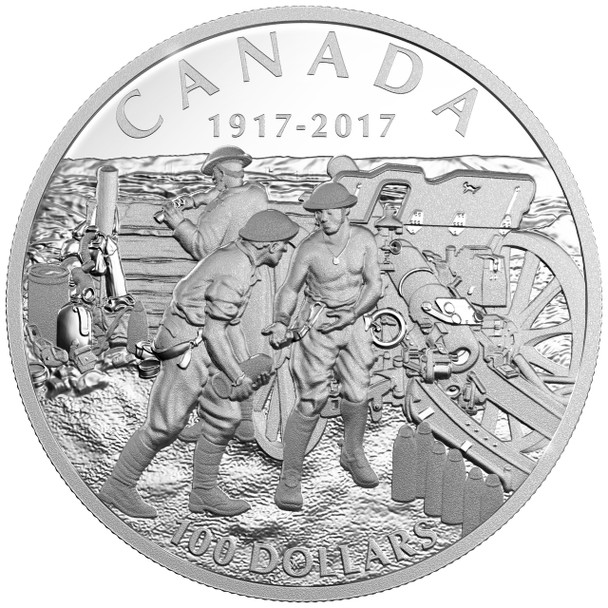 2017 $100 FINE 10 OUNCE SILVER COIN - VIMY RIDGE
