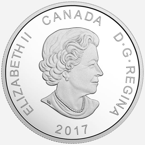 2017 $20 FINE SILVER COIN GLISTENING NORTH: THE ARCTIC WOLF