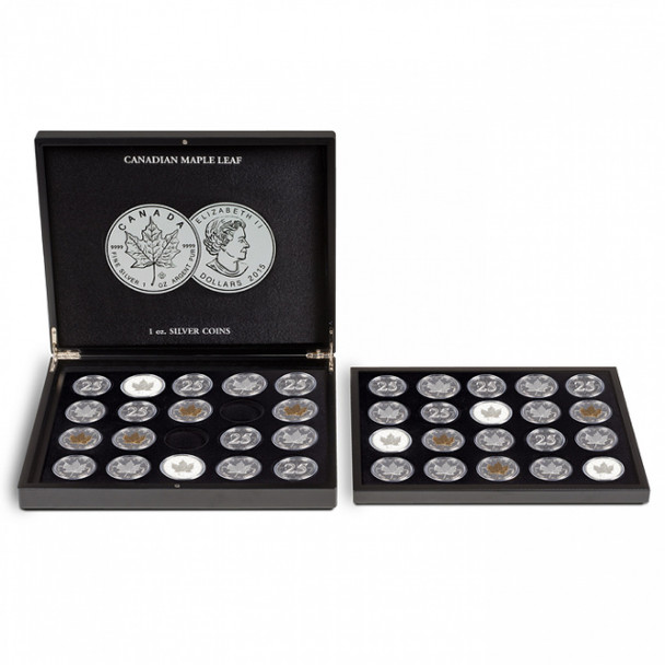 PRESENTATION CASE FOR 20 CANADIAN MAPLE LEAF SILVER DOLLARS