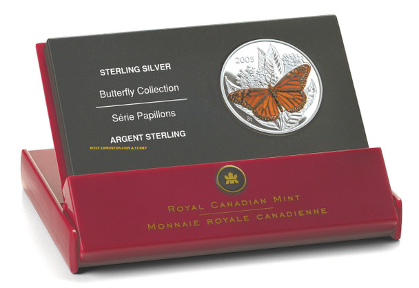 2005 50-CENT STERLING SILVER COIN - MONARCH BUTTERFLY