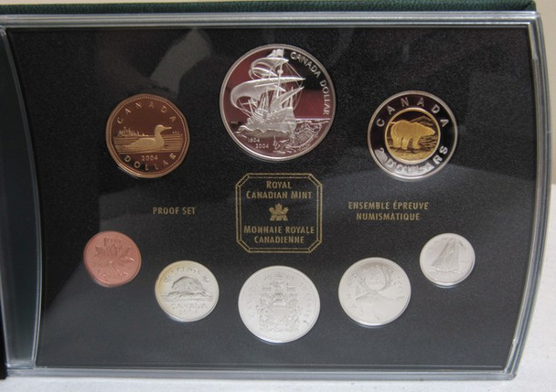 2004 COMMEMORATIVE PROOF DOUBLE DOLLAR SET - 400TH ANNIVERSARY OF THE FIRST FRENCH SETTLEMENT IN NORTH AMERICA